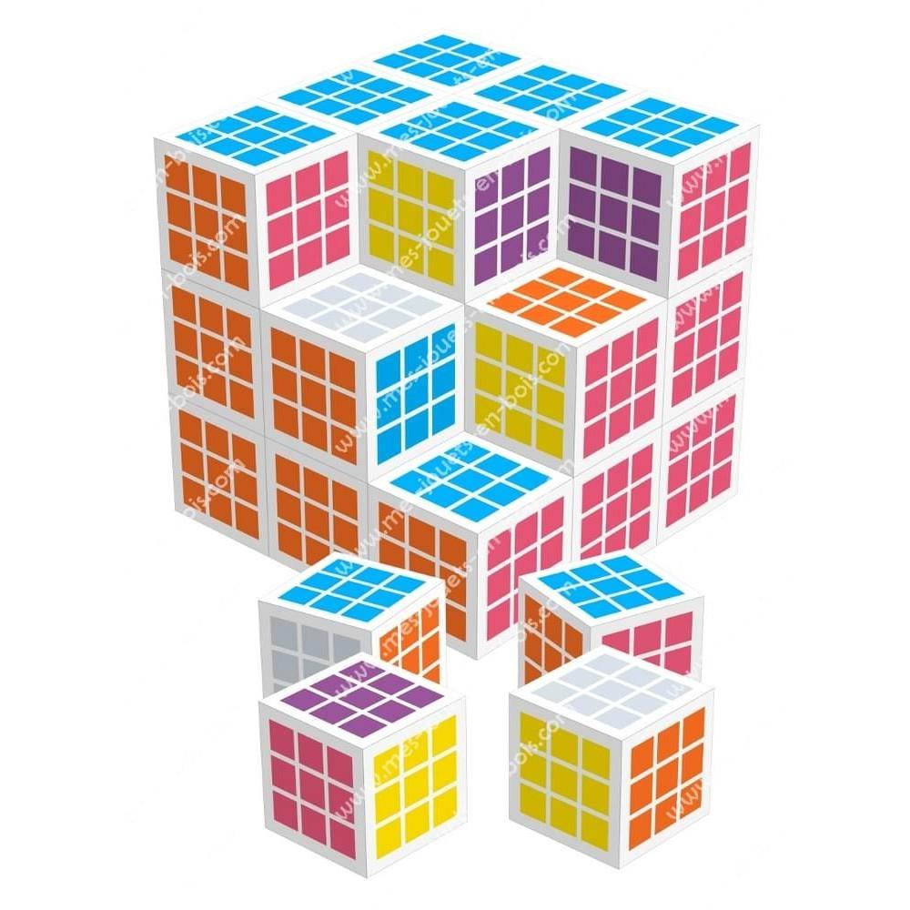 Jeu de société de cubes - 27 cubes en bois