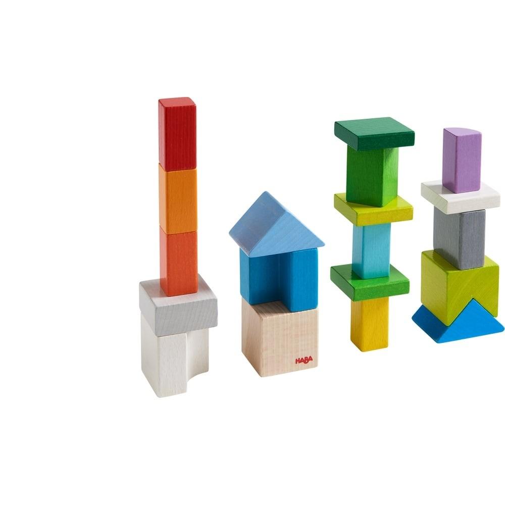 Blocs de construction en bois - Défi 8 cubes