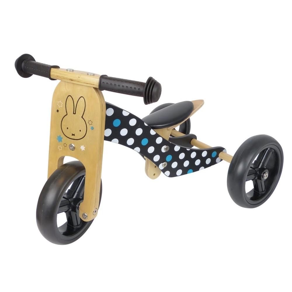 Tricycle et draisienne 2 en 1 évolutif pour bébé - Miffy
