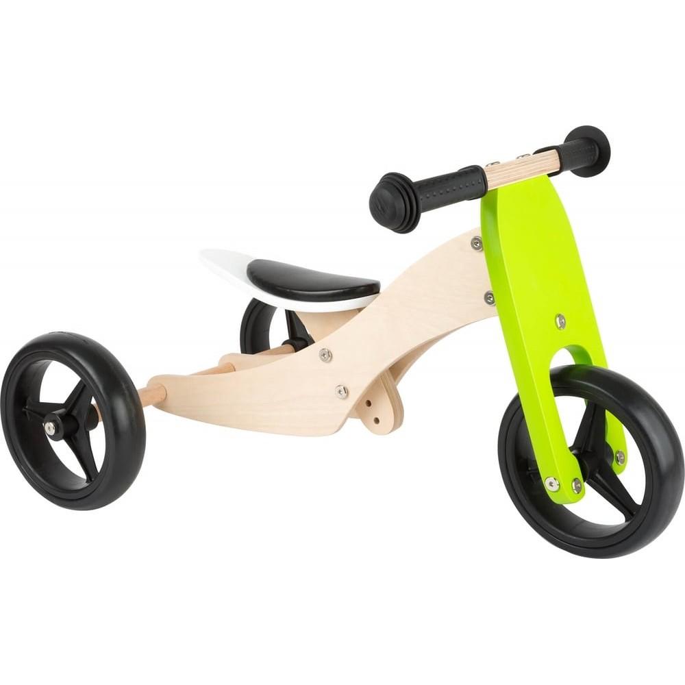 Tricycle et draisienne 2 en 1 en bois évolutif pour bébé - Petit bolide