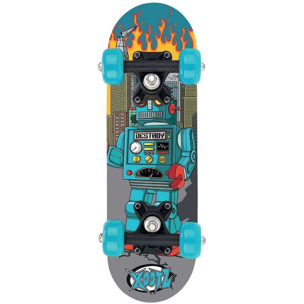 Skateboard Monster 44 cm en bois bleu