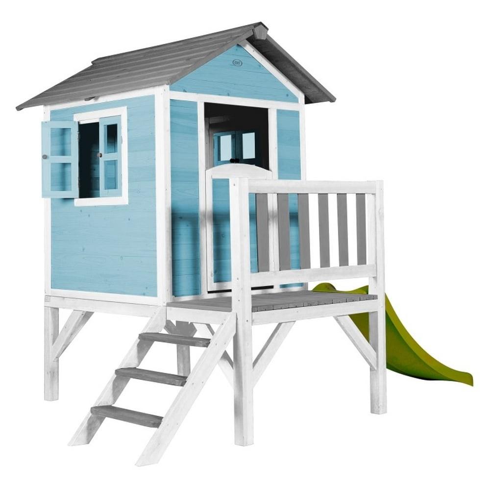 Cabane sur pilotis en bois bleue claire
