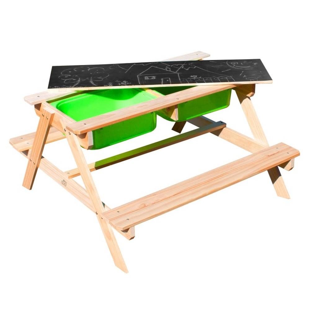 Table jeux d'eau et de sable en bois