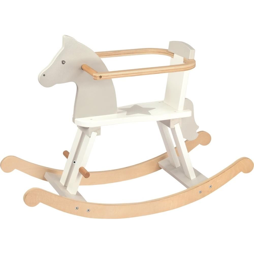 Mon premier cheval à bascule en bois