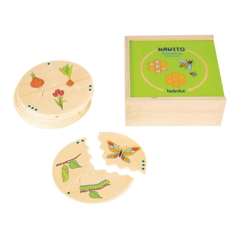 Puzzle éducatif en bois - Phases de vie