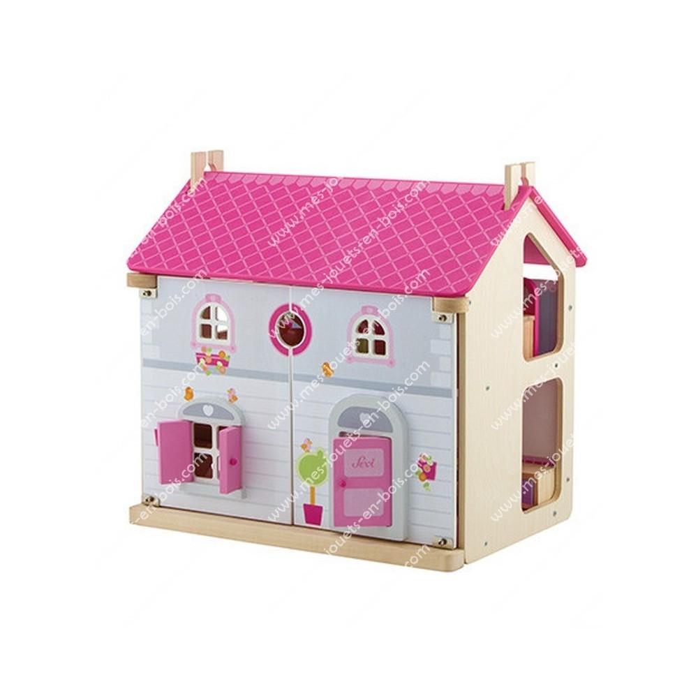 Maison de poupée en bois - La douceur du foyer