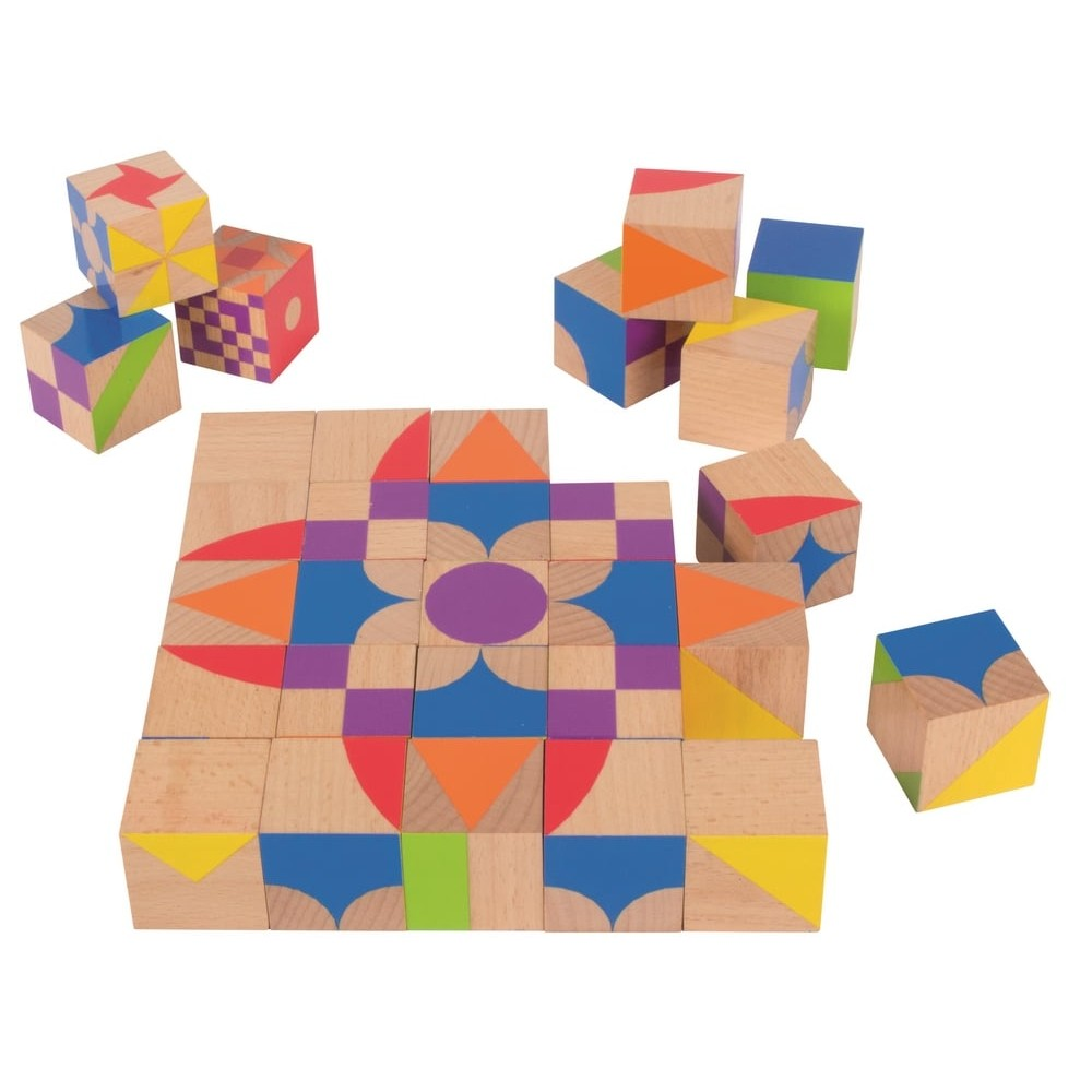 Puzzle cubes en bois - Mosaïque