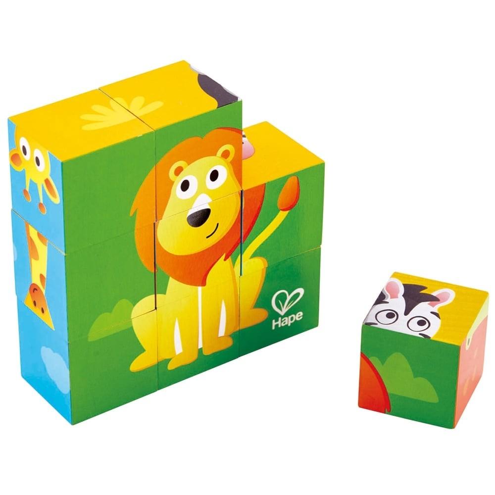 Puzzle cubes en bois - Safari