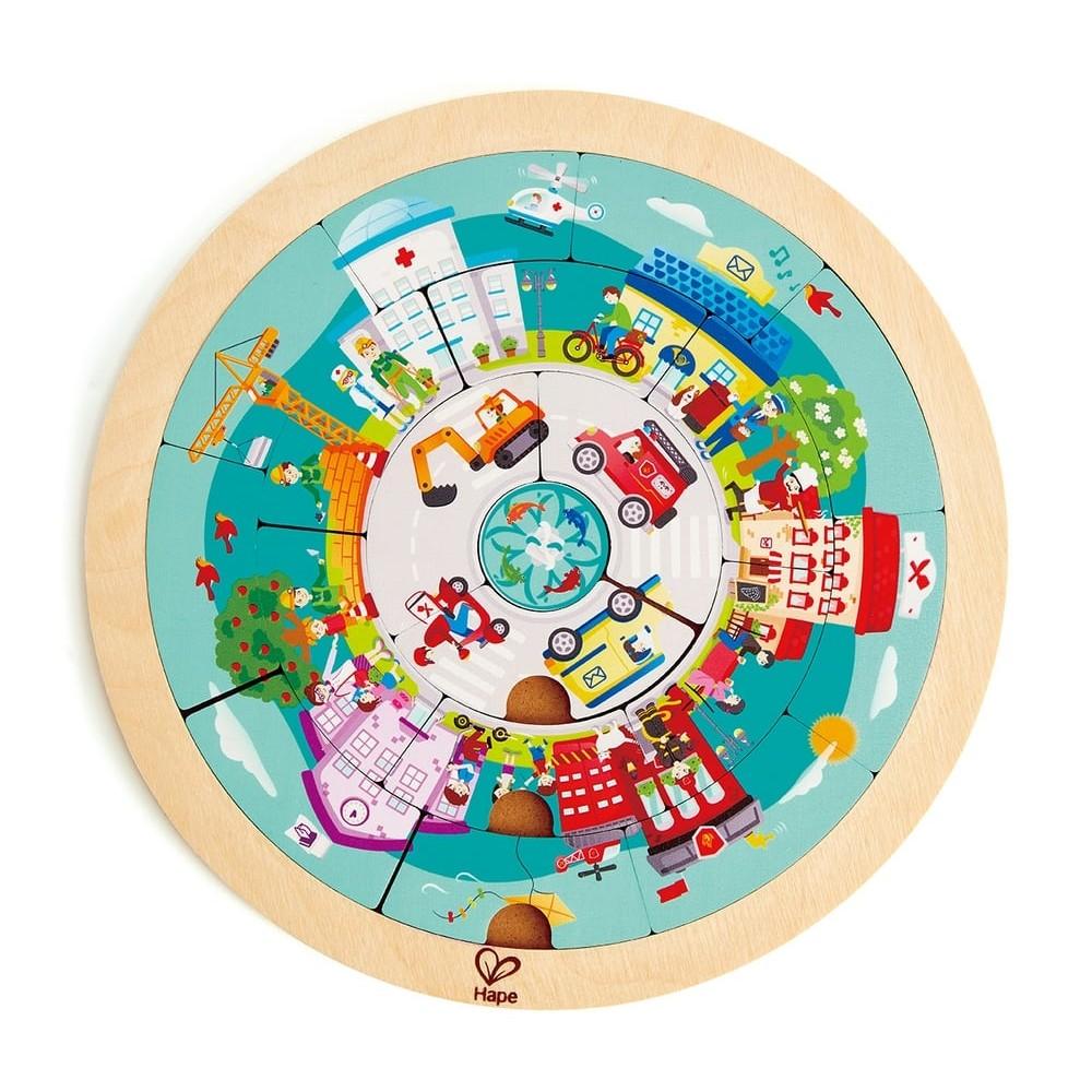 Puzzle en bois - La ronde des métiers