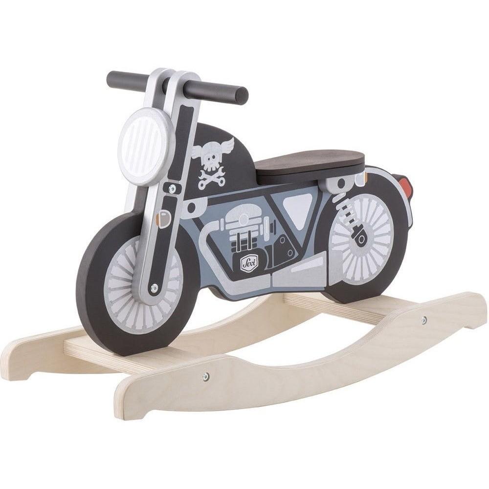 Moto à bascule en bois pour bébé