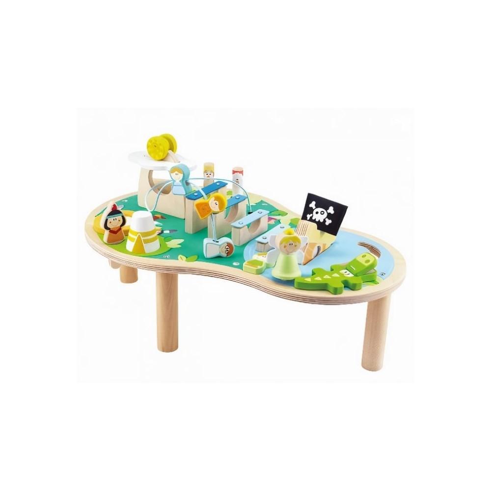 Table d'activités musicale en bois pour bébé