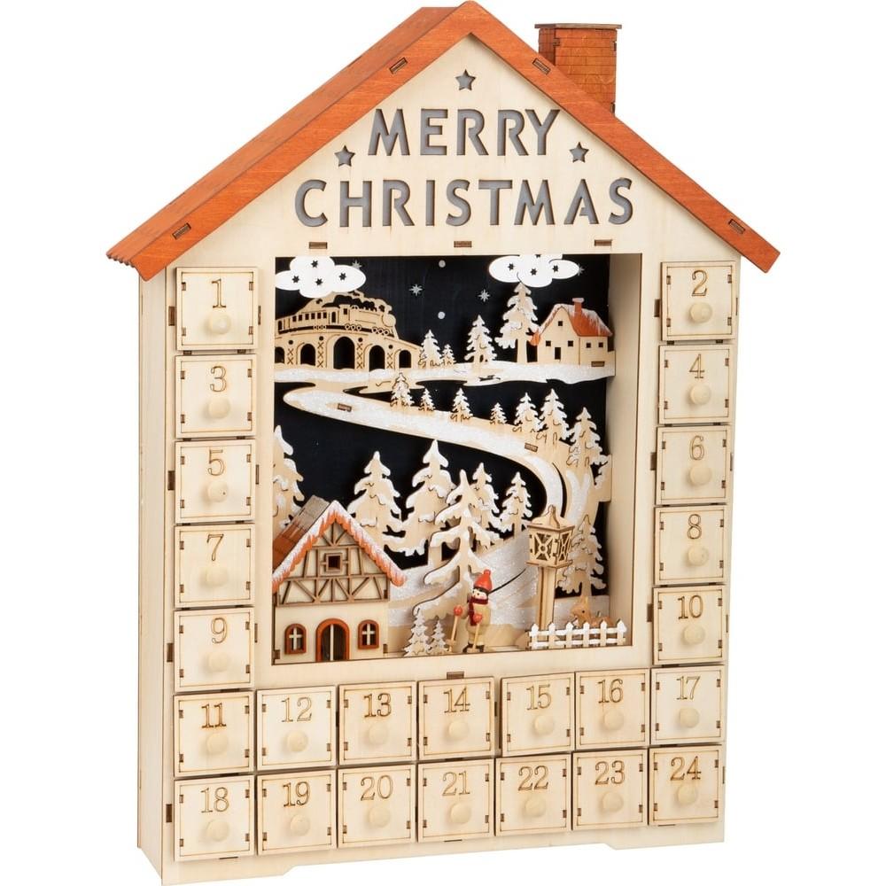 Calendrier de l'Avent Joyeux Noël en bois