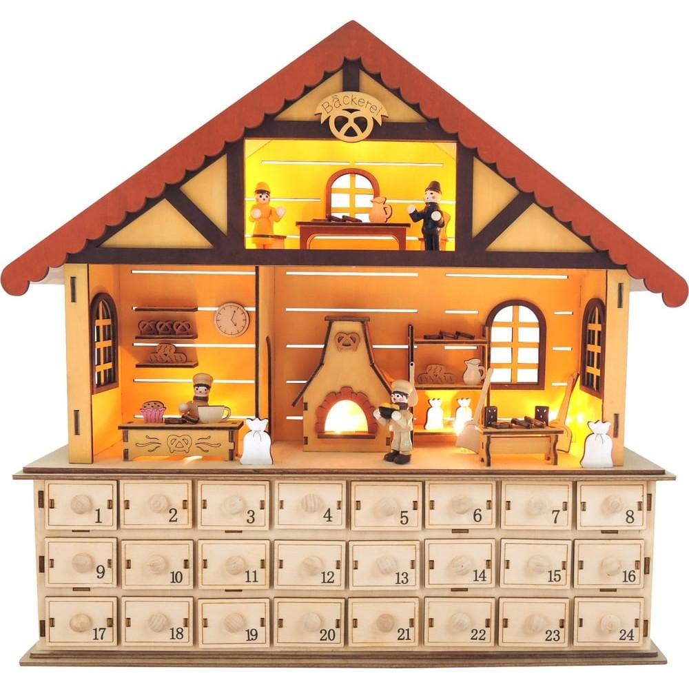 Calendrier de l'Avent Pâtisserie de Noël en bois
