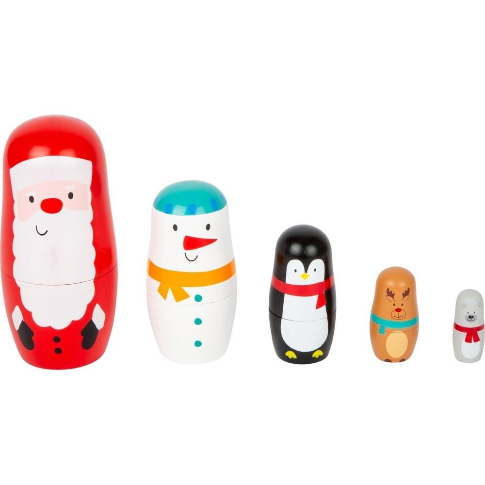 Poupées russes Noël en bois