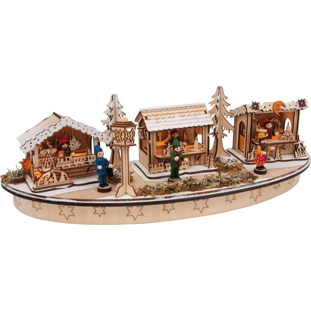 Lampe en bois - Marché de Noël