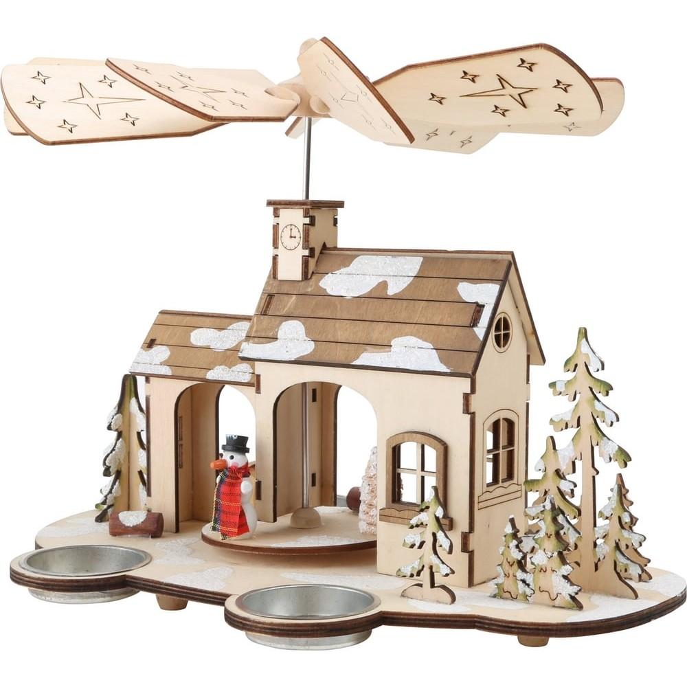 Pyramide de Noël Avent en bois