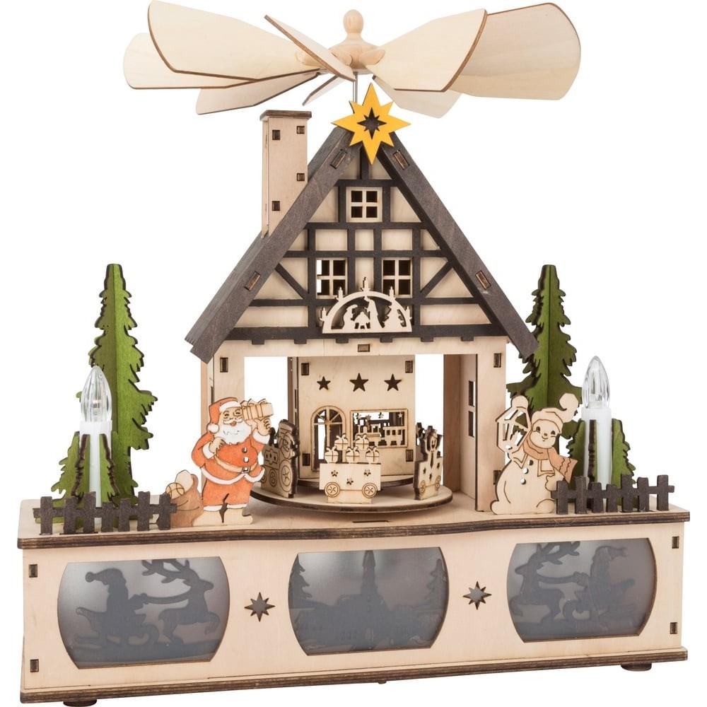 Lampe Pyramide de Noël en bois