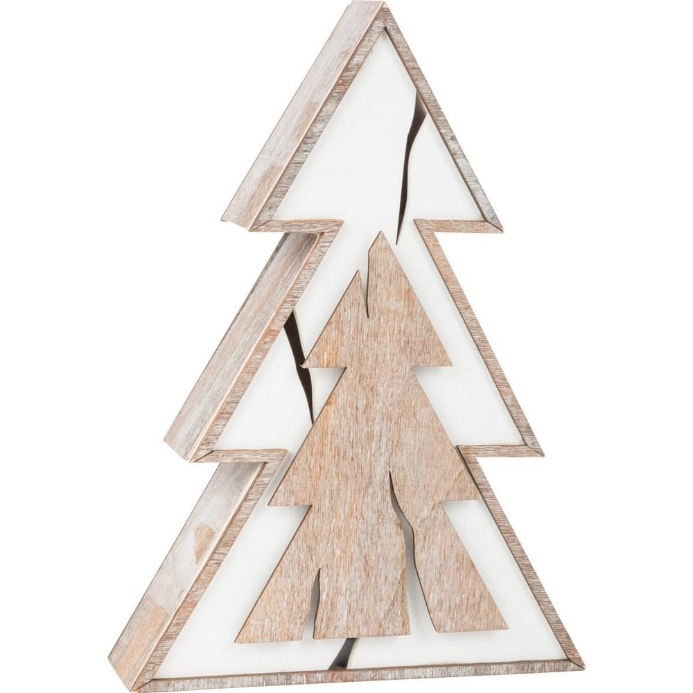Sapin lumineux en bois Design écorce