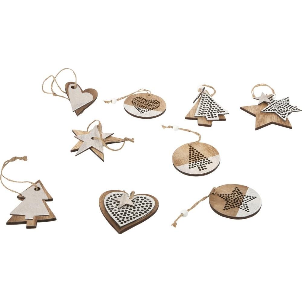 Déco à suspendre en bois - Motifs de Noël