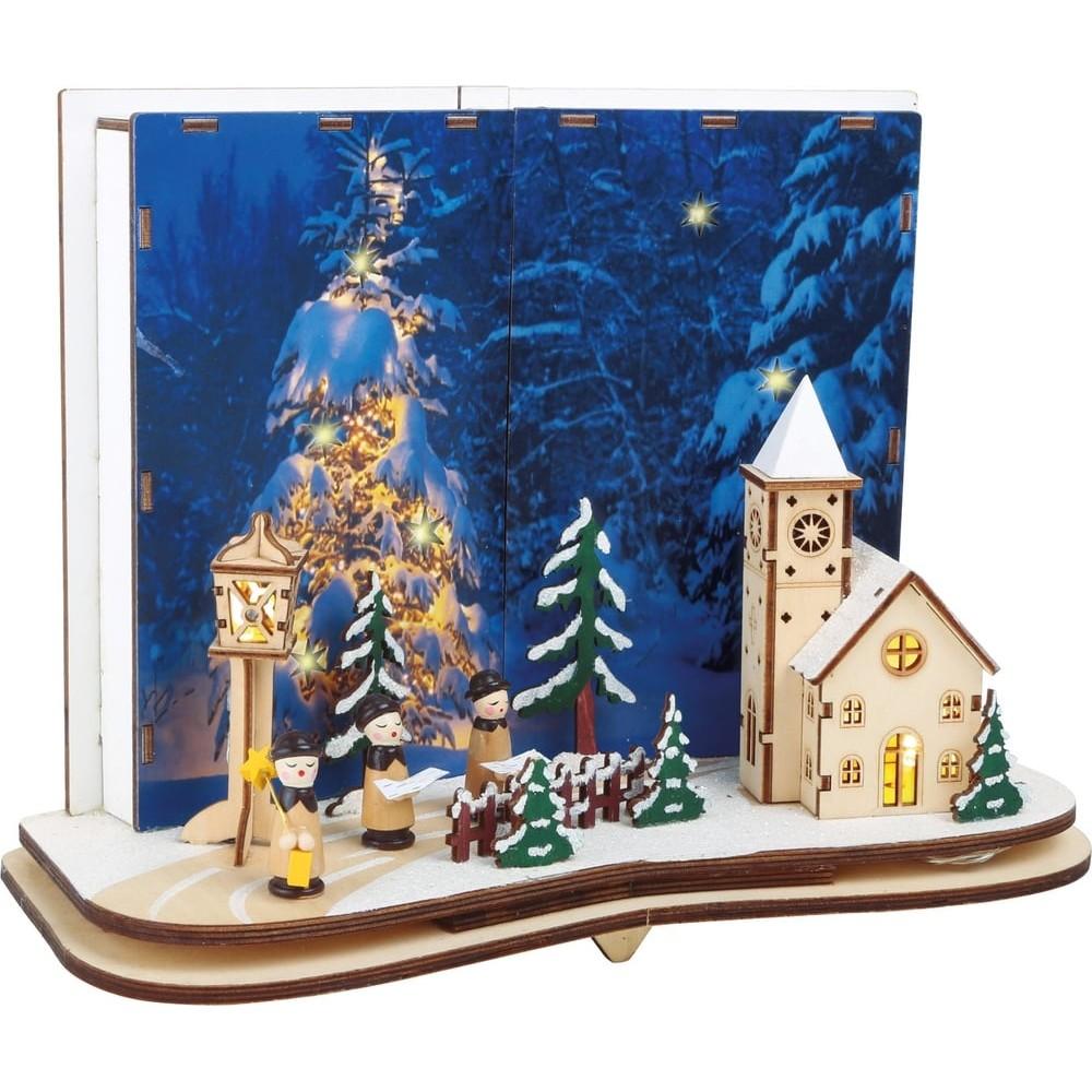 Lampe Déco en bois - Histoire de Noël