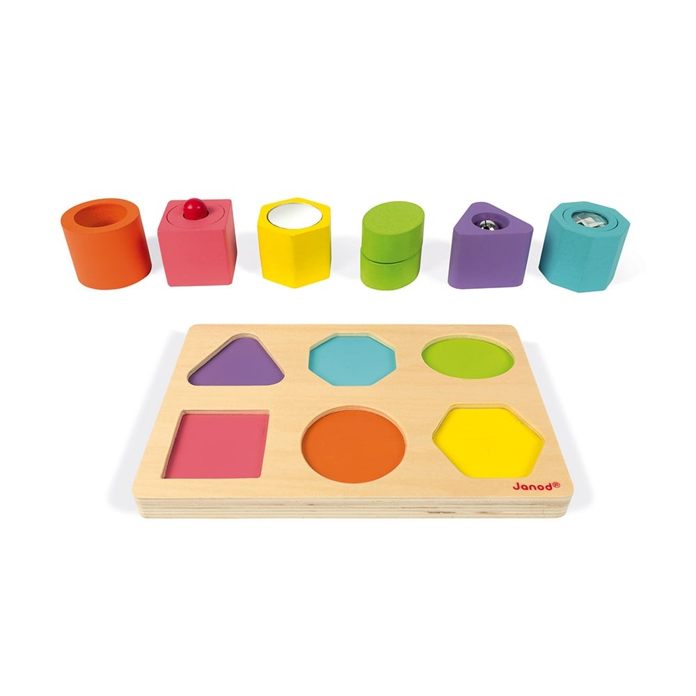 Puzzle 6 cubes en bois sensoriels