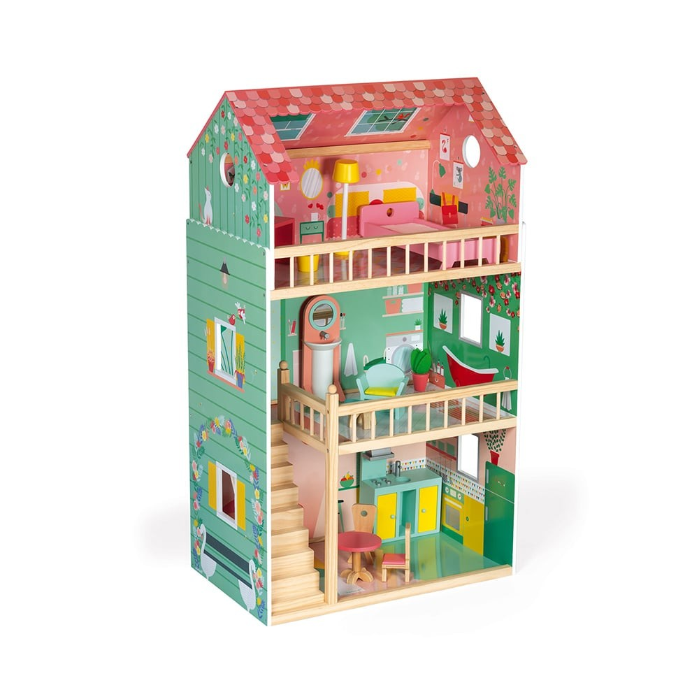 Maison de poupée en bois - Happy day
