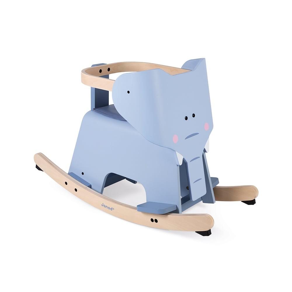 Éléphant à bascule en bois
