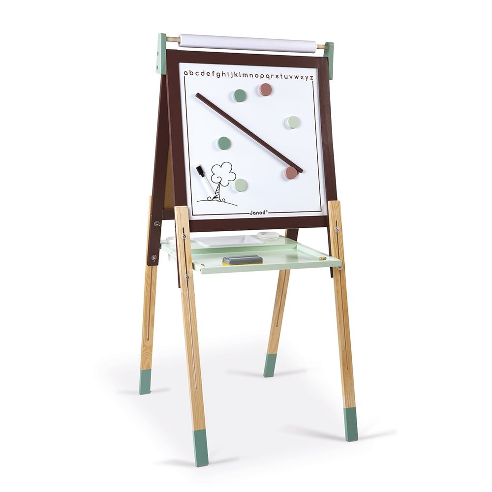 Tableau réglable taupe et vert en bois