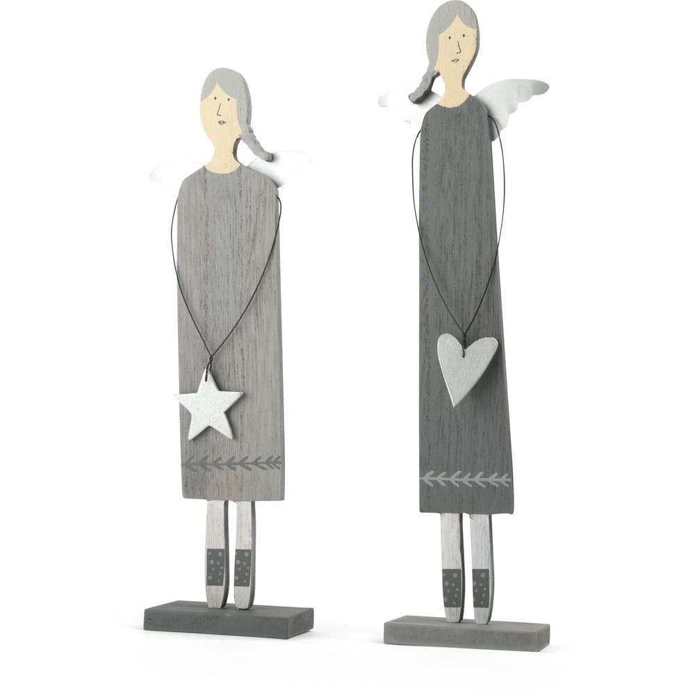 Figurines décoratives Anges en bois