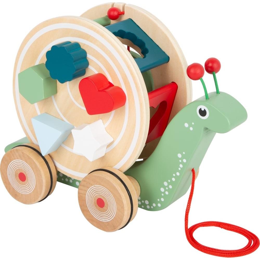 L'escargot voyageur en bois à tirer