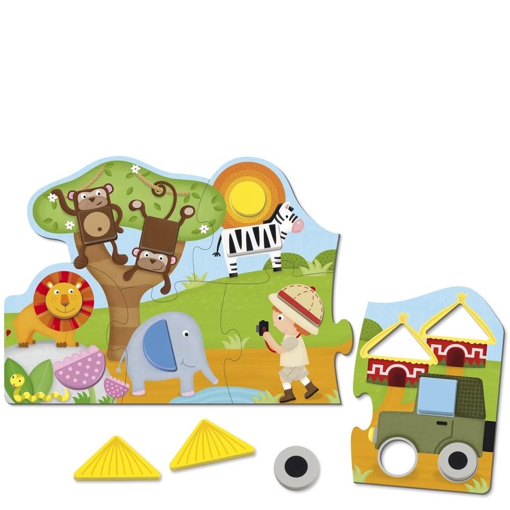 Puzzle en bois - Safari géométrique