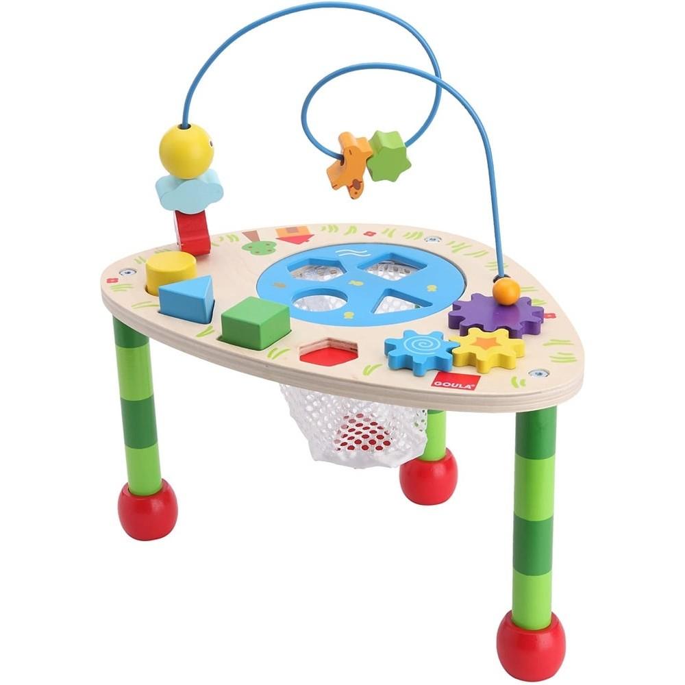 Table d'activités en bois pour bébé