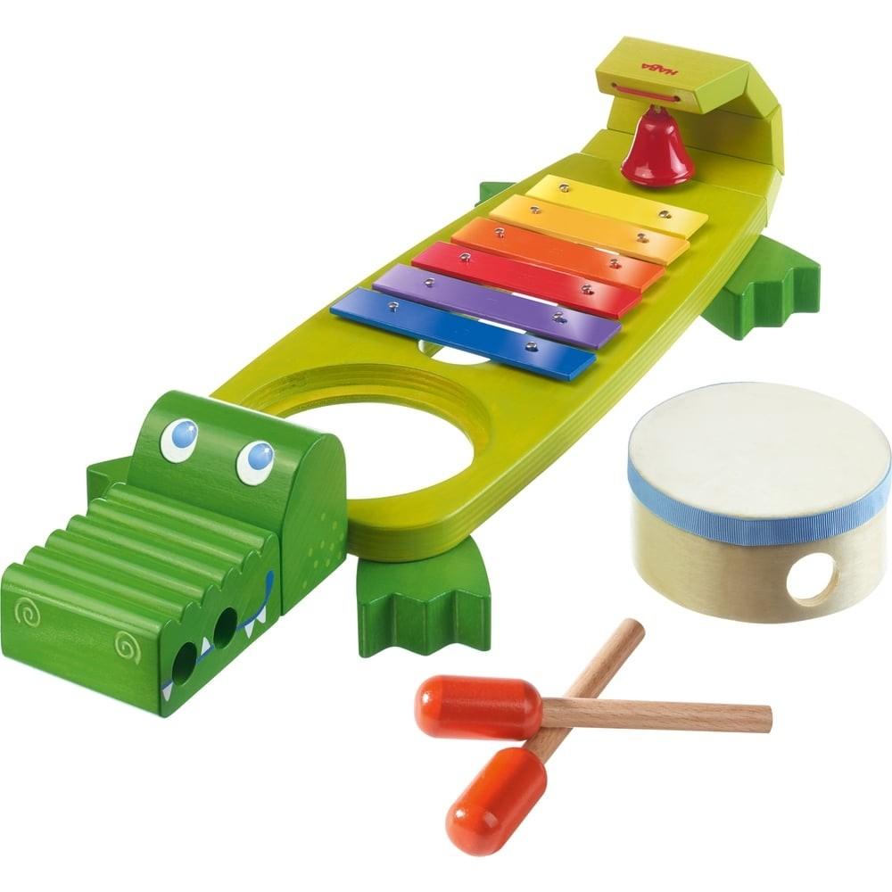 Instruments de musique en bois - Croco et ses amis musiciens
