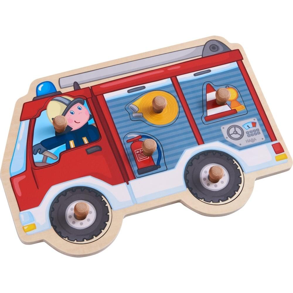 Puzzle en bois - Pompier en mission