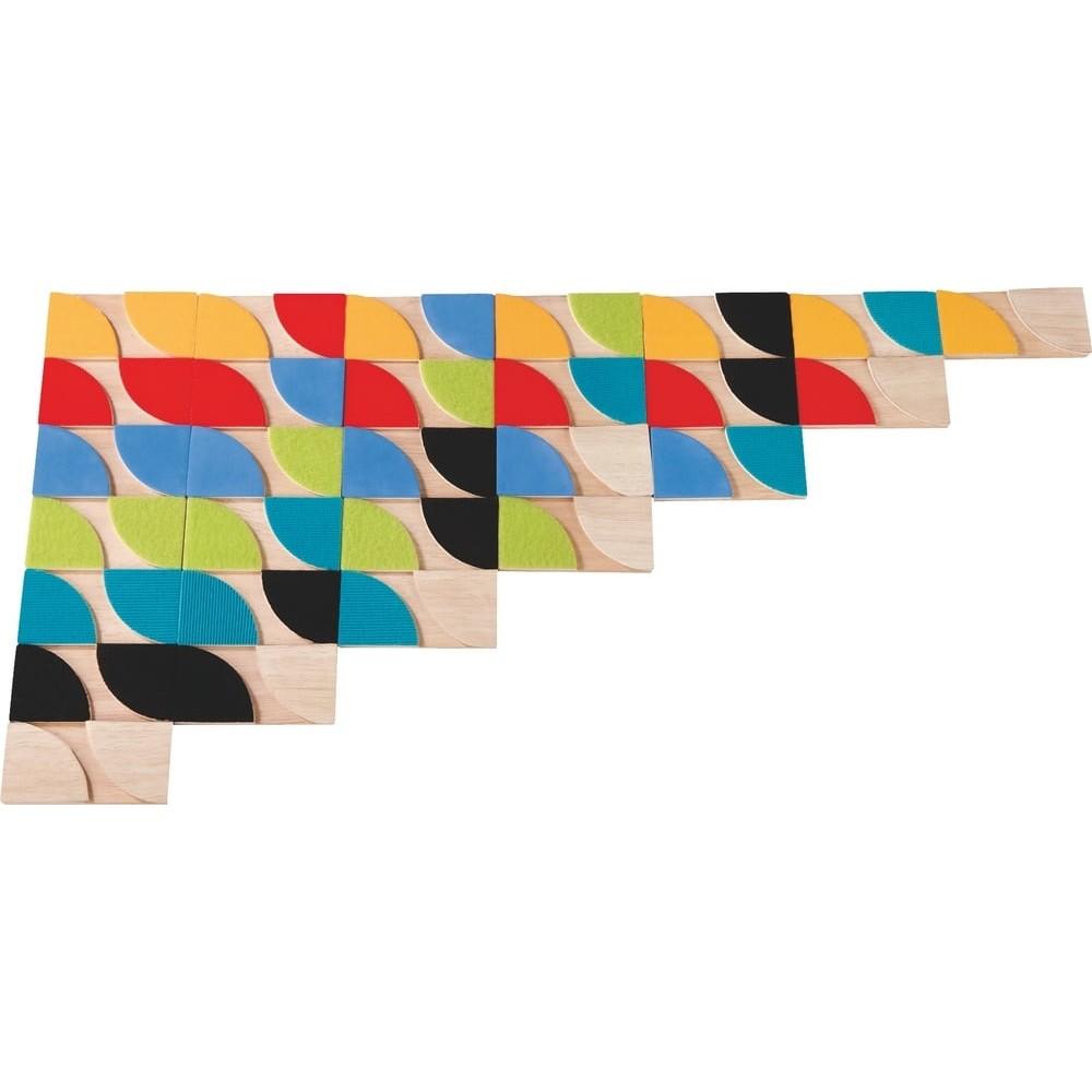 Dominos tactiles en bois - La vision au bout des doigts