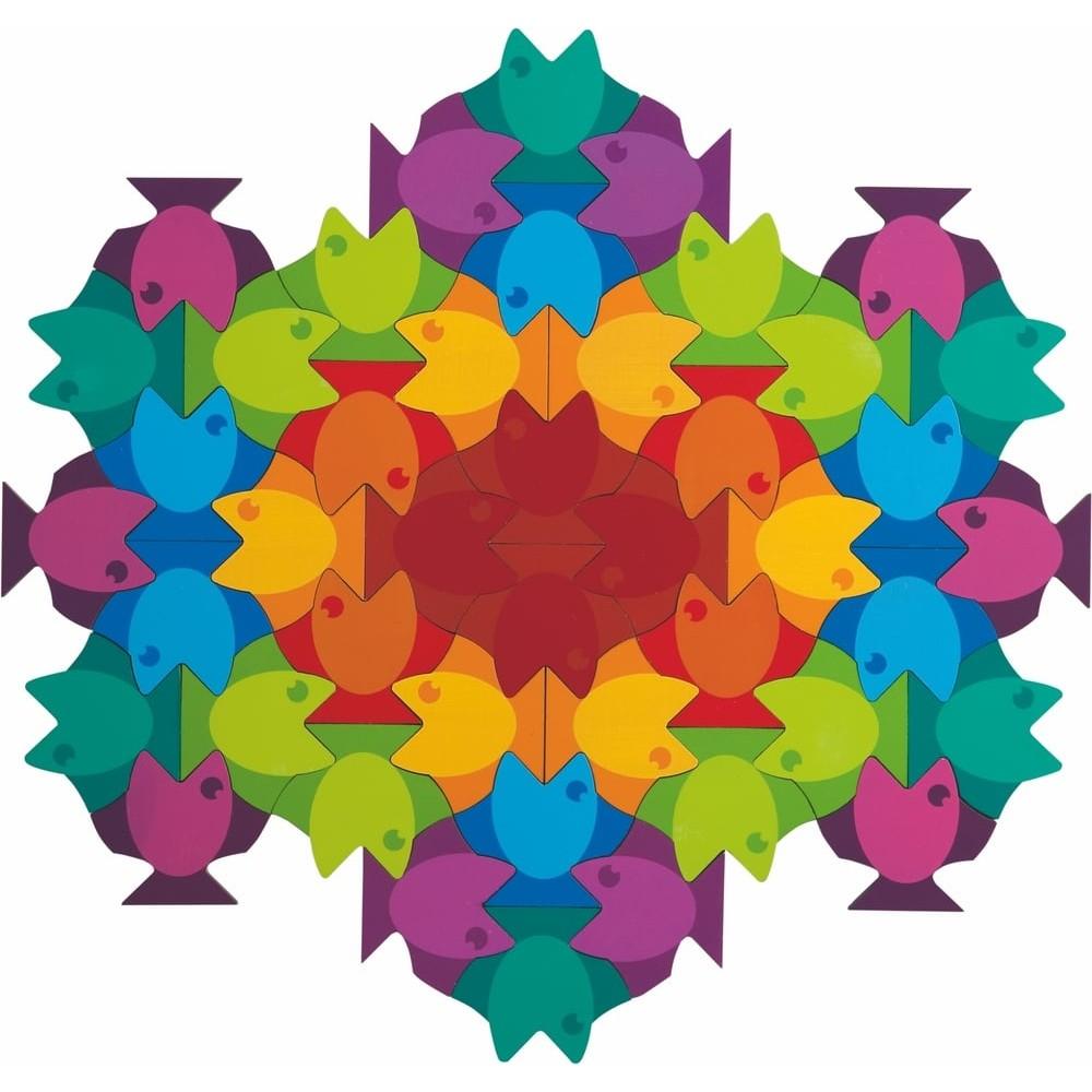 Puzzle en bois - Mandala aquatique