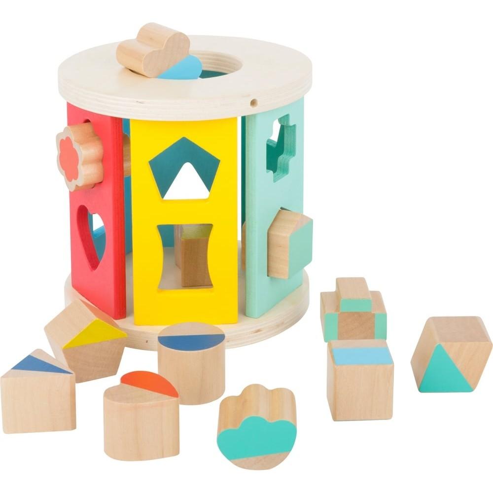 Boîte à formes en bois pour bébé - Rouleau