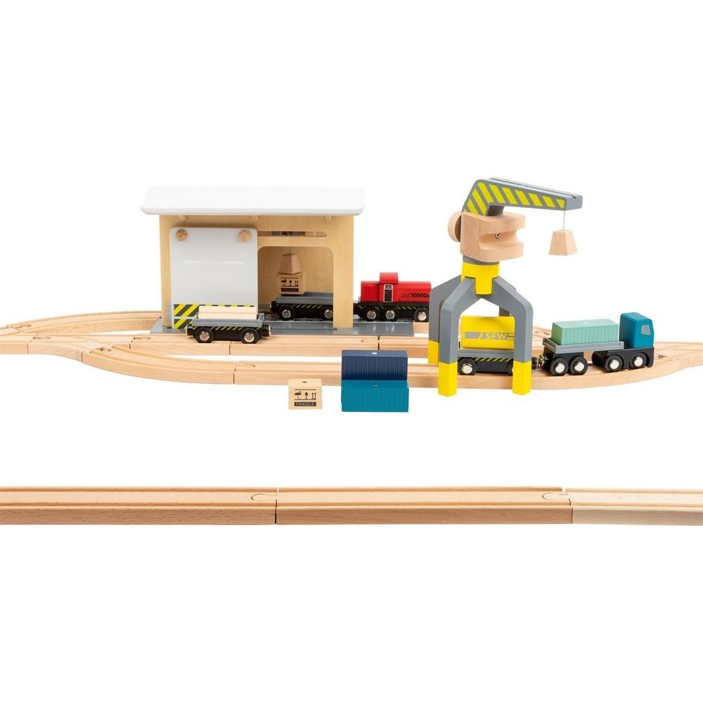 Circuit de train en bois - Gare de marchandise