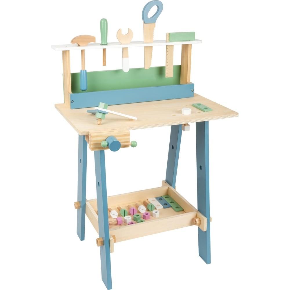 Établi en bois pour enfant couleurs pastel