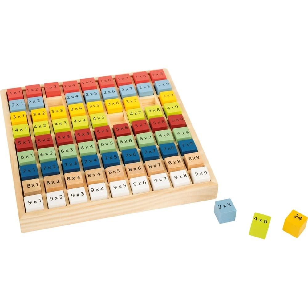 Jeu éducatif - Jeu de table de multiplication en bois