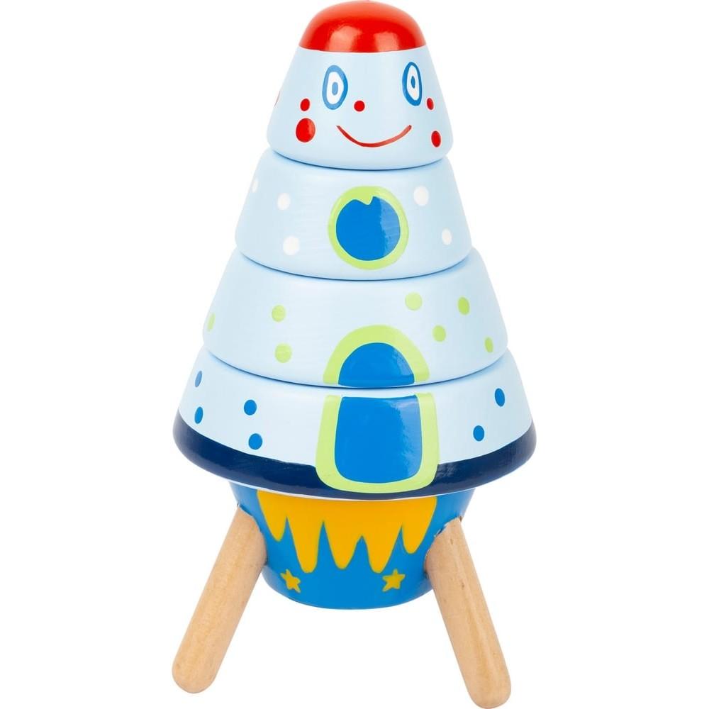 Jouet à empiler en bois pour bébé - Navette spatiale
