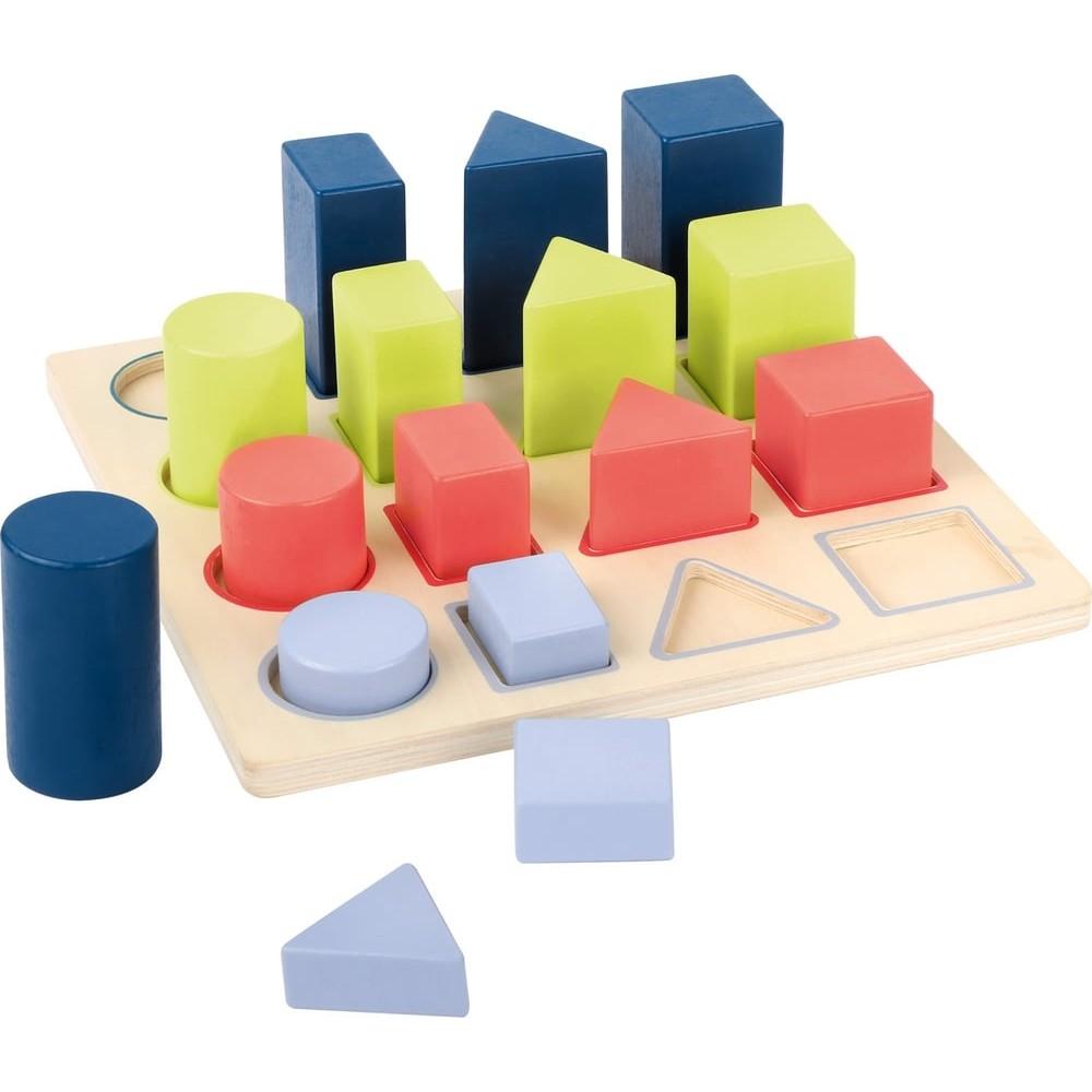Puzzle éducatif en bois - formes géométriques