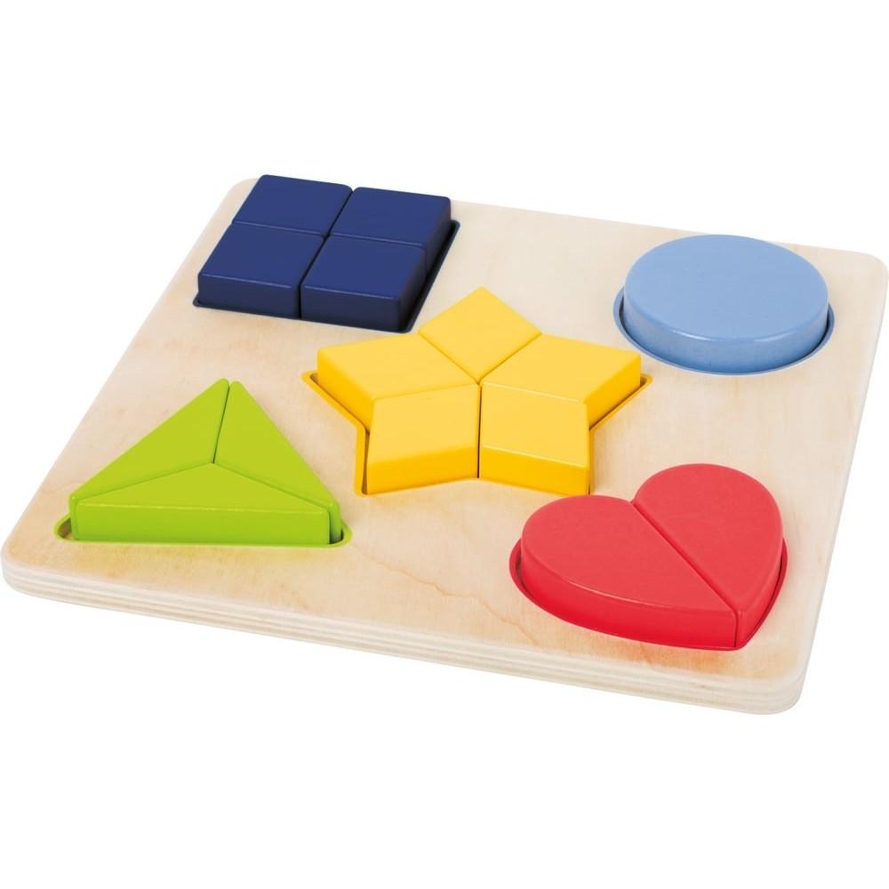 Puzzle éducatif géométrique fraction en bois