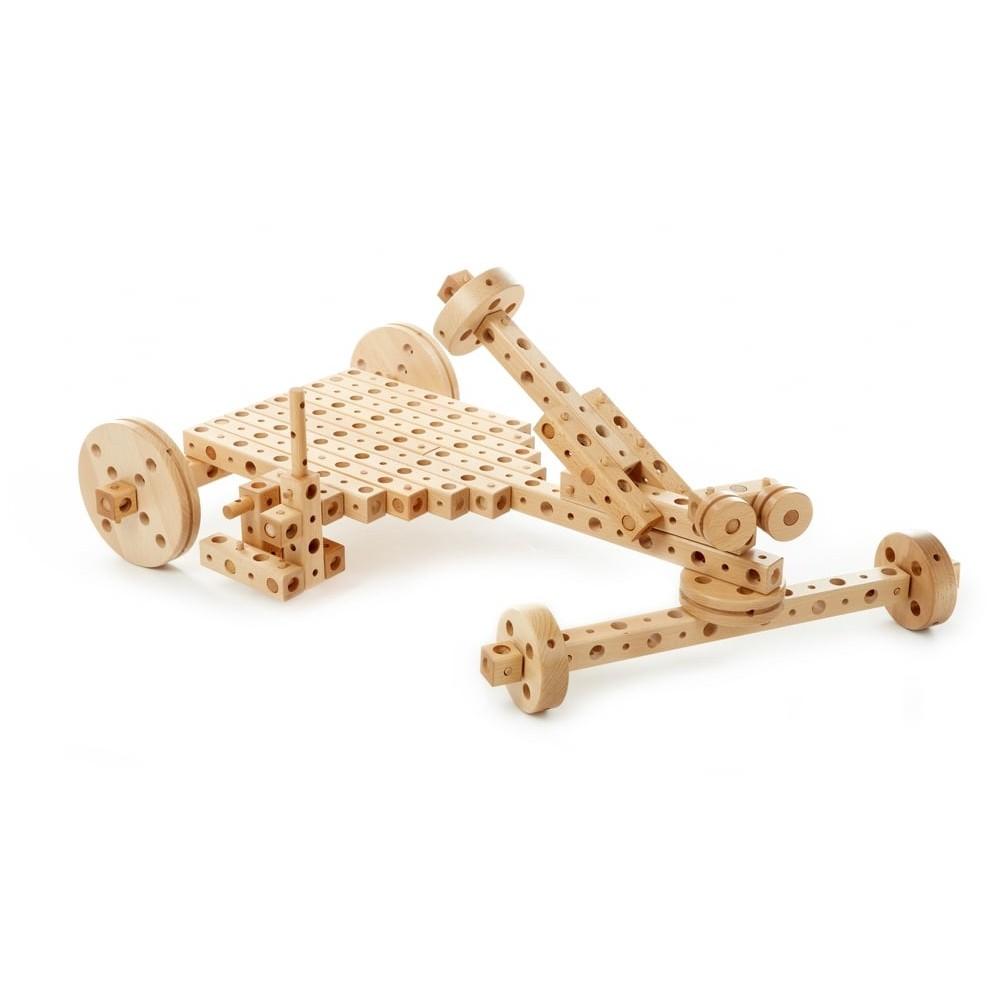 Jeu de construction à assembler - Kart de course en bois