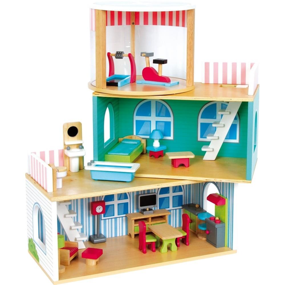 Maison de poupée en bois - Loft modulable
