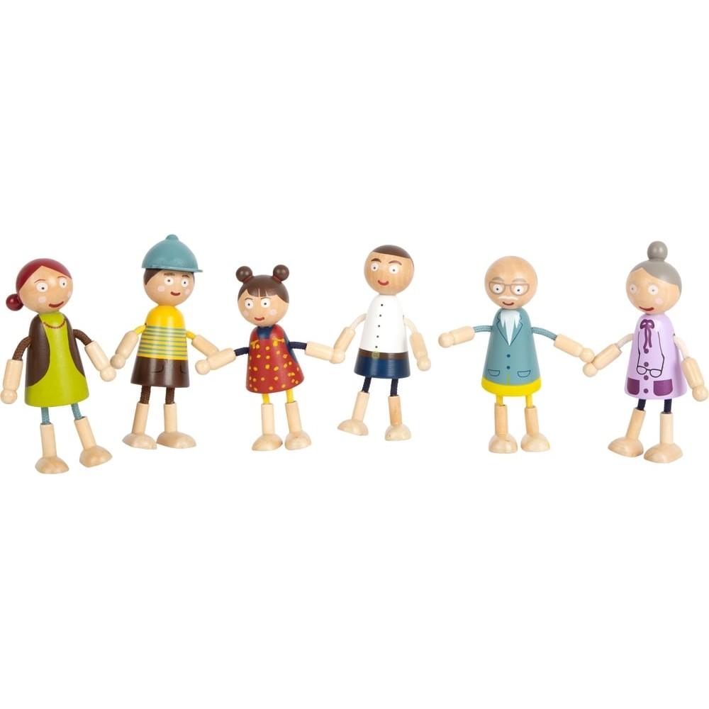 Accessoires maison de poupée ensemble figurines en bois