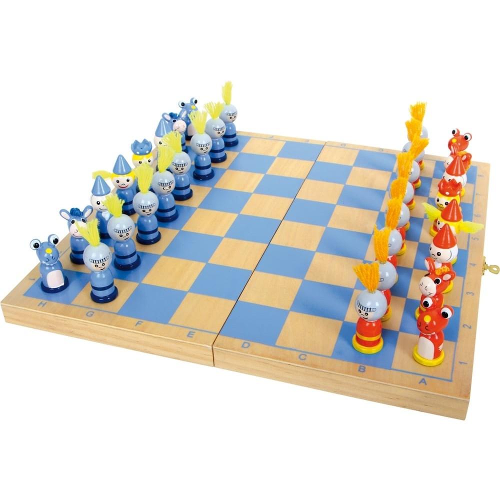Jeu d'échecs en bois - Médiéval