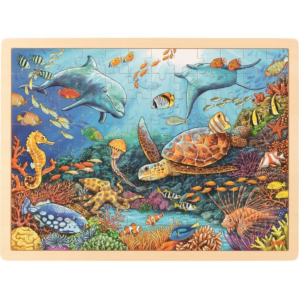 Puzzle en bois 96 pièces - Sous l'océan