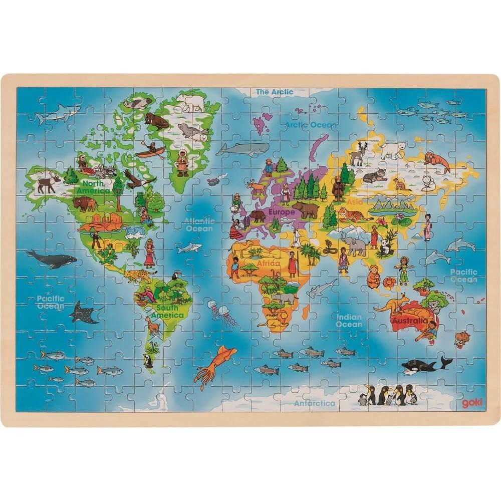 Puzzle en bois - Carte du monde