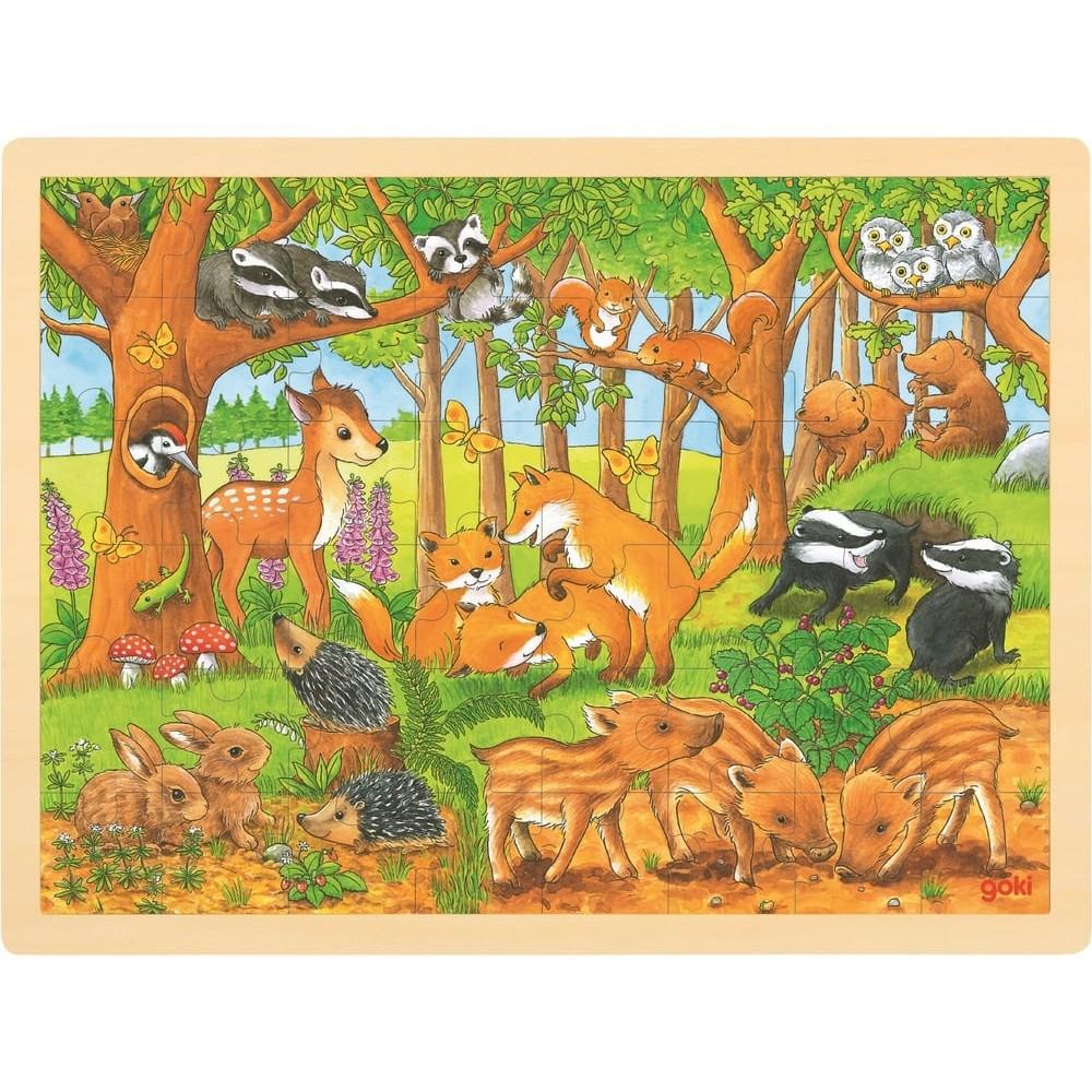 Puzzle en bois - La vie des sous-bois